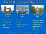 the leading science regions