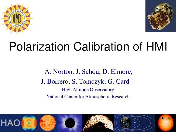polarization calibration of hmi n.