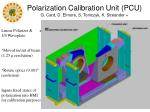 polarization calibration unit pcu g card d elmore s tomczyk k streander