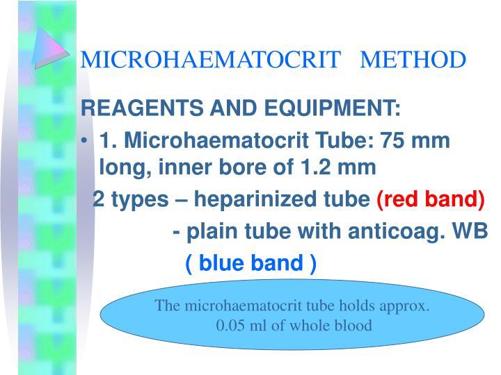 MICROHAEMATOCRIT   METHOD