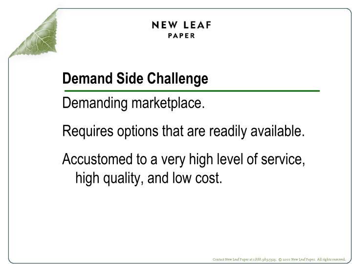 Demand Side Challenge