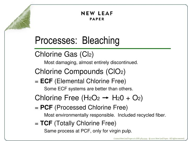 Processes:  Bleaching