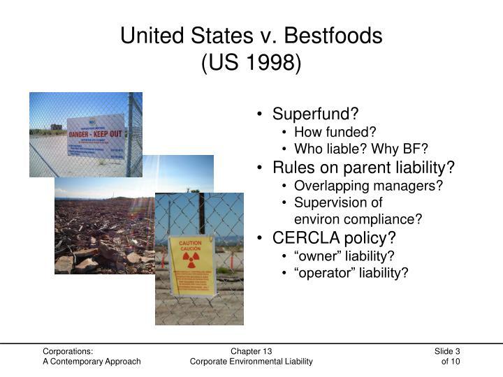 United states v bestfoods us 1998