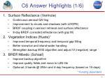 c6 answer highlights 1 6