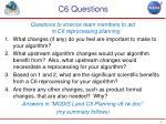 c6 questions