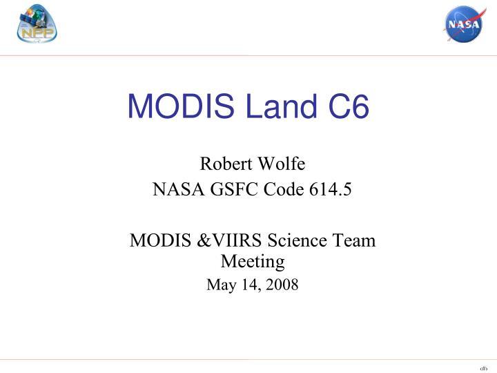 modis land c6 n.
