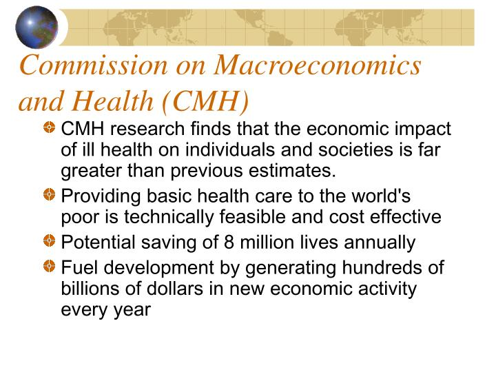 Commission on Macroeconomics and Health (CMH)