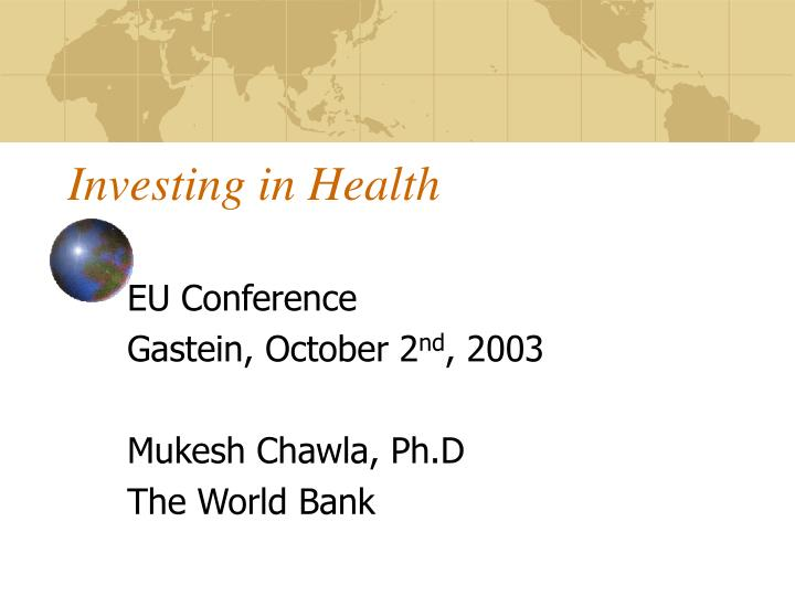Investing in health
