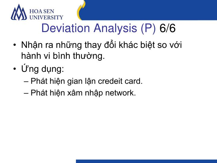 Deviation Analysis (P)