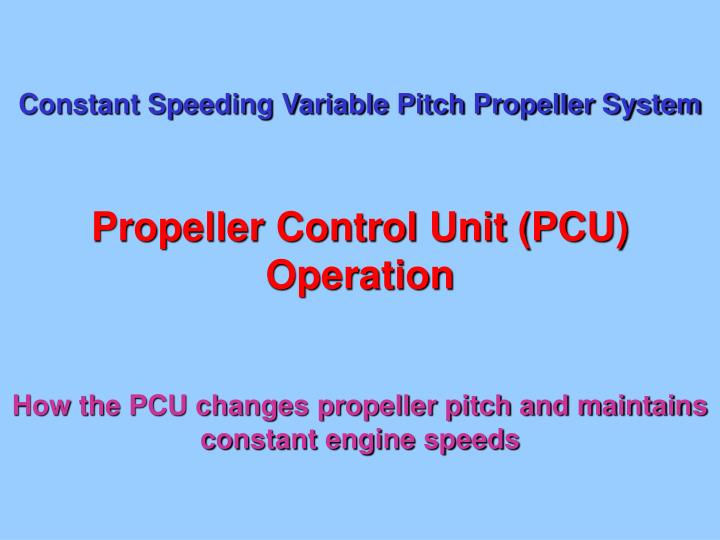 PPT - Constant Speeding Variable Pitch Propeller System PowerPoint