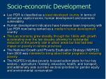 socio economic development