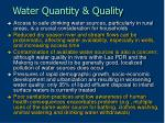 water quantity quality