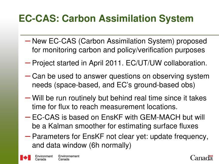 EC-CAS: Carbon Assimilation System