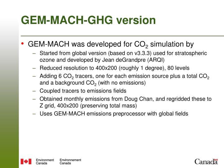 GEM-MACH-GHG version