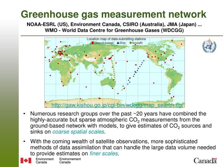 Greenhouse gas measurement network