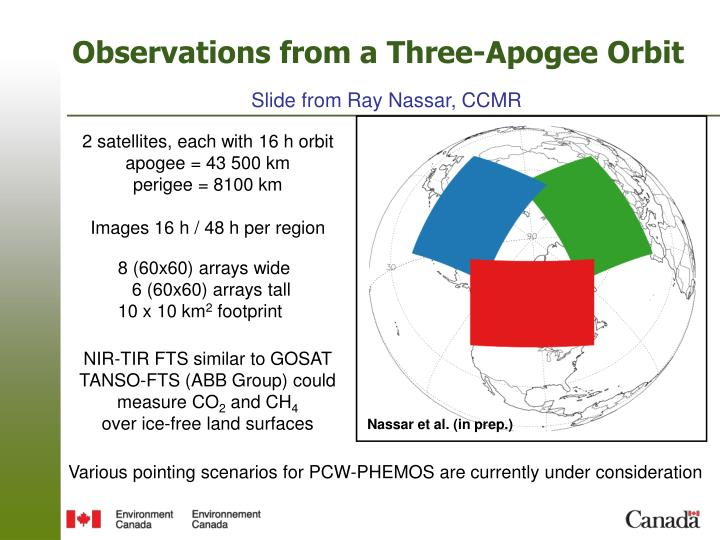 Observations from a Three-Apogee Orbit