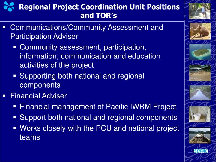 Regional Project Coordination Unit Positions and TOR's