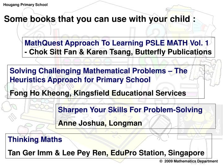 Some books that you can use with your child :