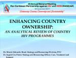 enhancing country ownership an analytical review of country hiv programmes