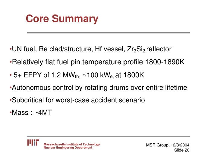 Core Summary