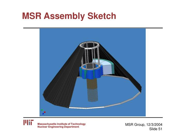 MSR Assembly Sketch