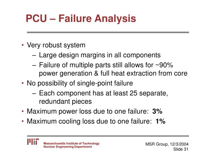 PCU – Failure Analysis