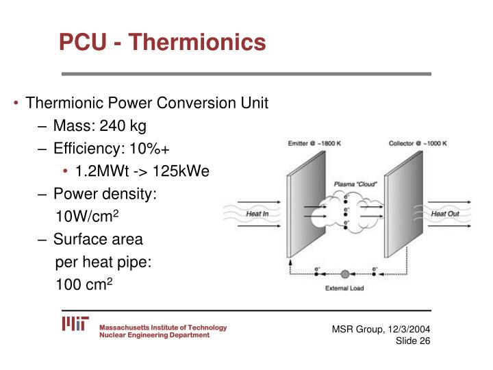 PCU - Thermionics