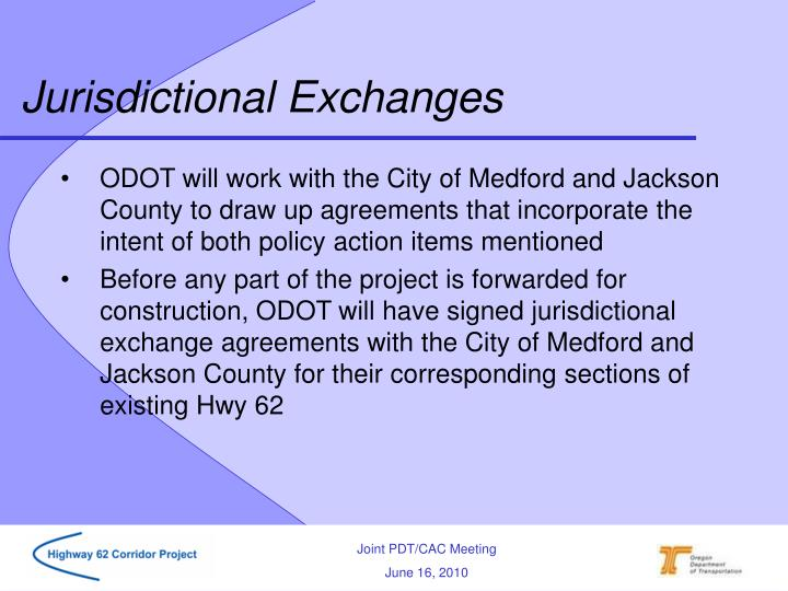 Jurisdictional Exchanges