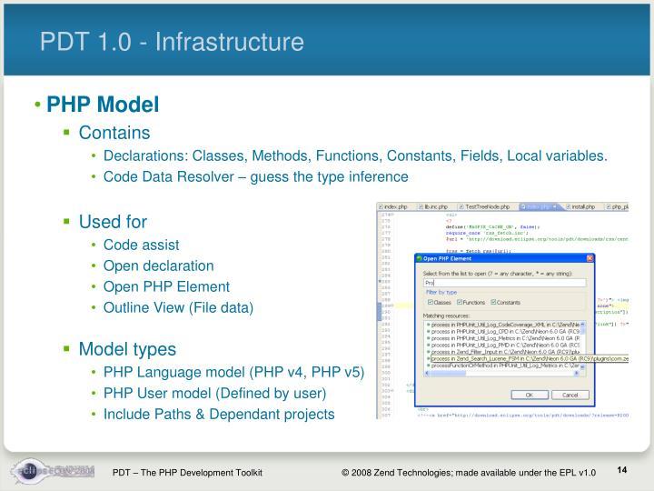 PDT 1.0 - Infrastructure