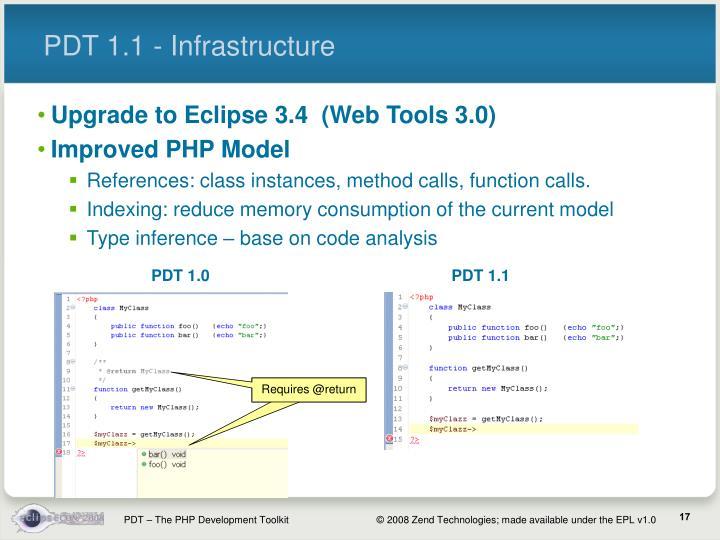 PDT 1.1 - Infrastructure