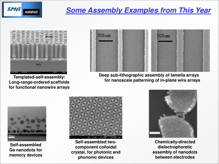 Templated-self-assembly: