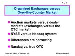 organized exchanges versus over the counter market