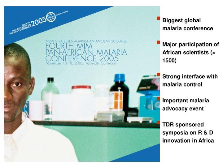 Biggest global malaria conference