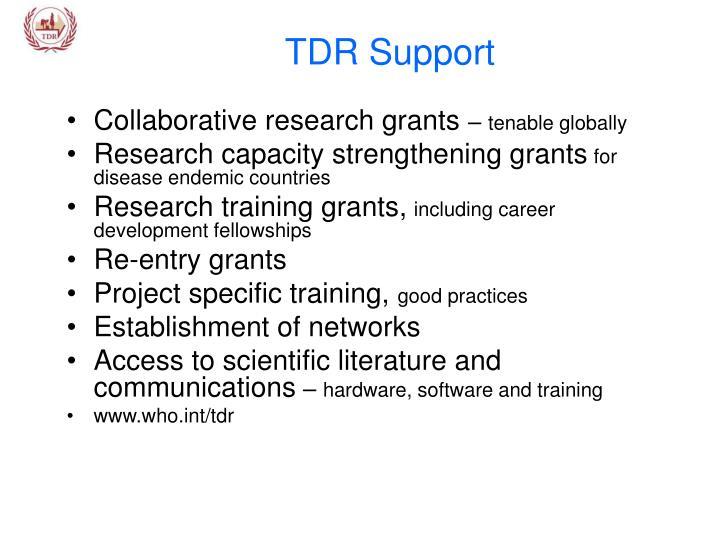 TDR Support