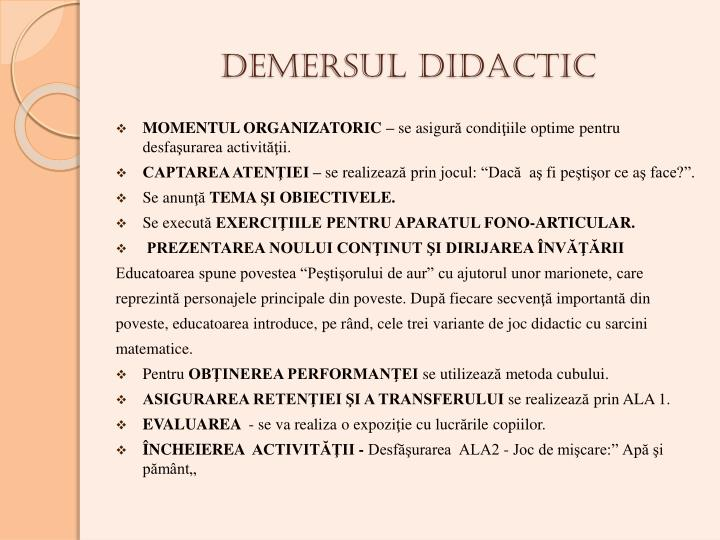 DEMERSUL DIDACTIC