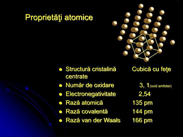 Proprietăţi atomice