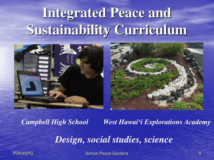 Integrated Peace and Sustainability Curriculum