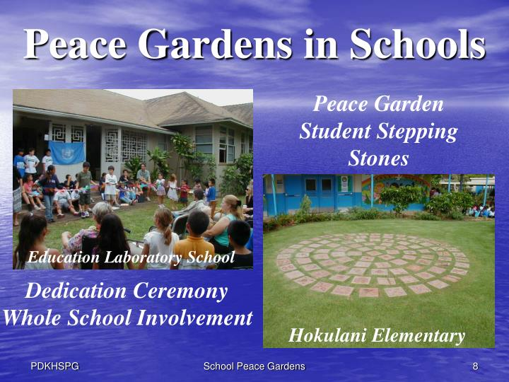Peace Gardens in Schools