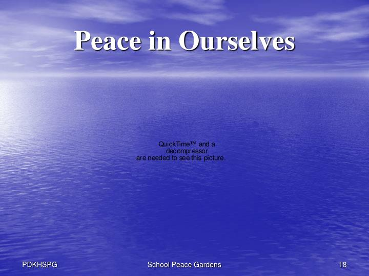 Peace in Ourselves