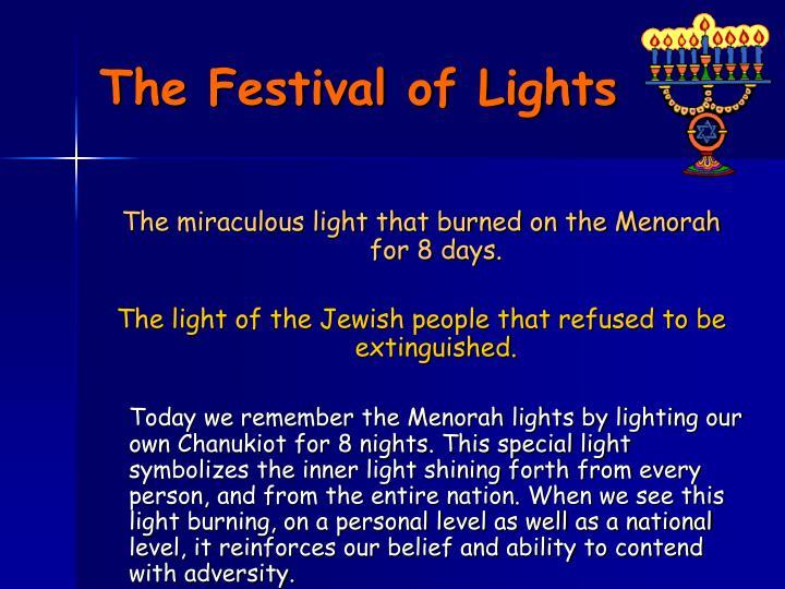 The Festival of Lights