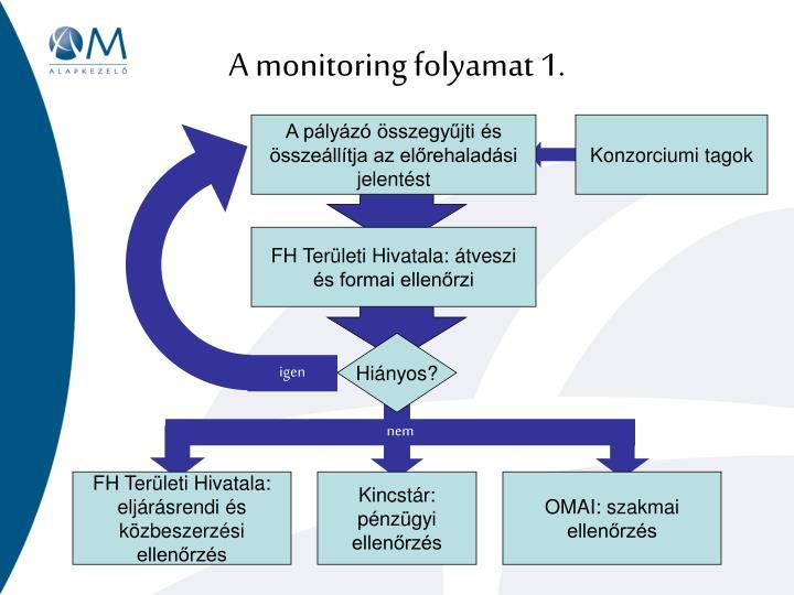 A monitoring folyamat 1.