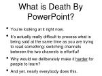what is death by powerpoint