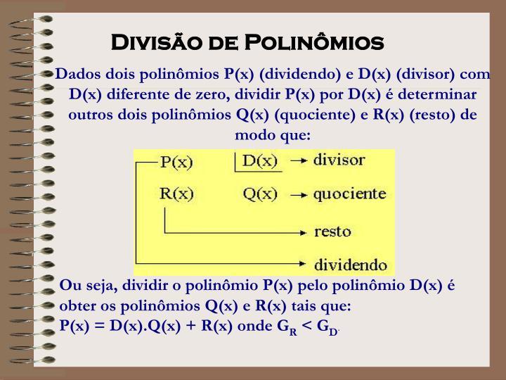 Divisão de Polinômios