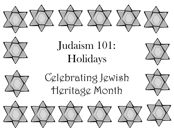 judaism 101 holidays n.