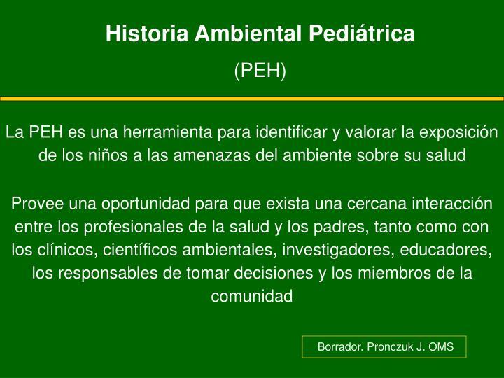 Historia Ambiental Pediátrica