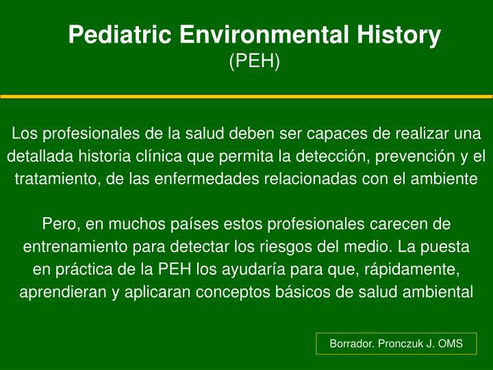 Pediatric Environmental History