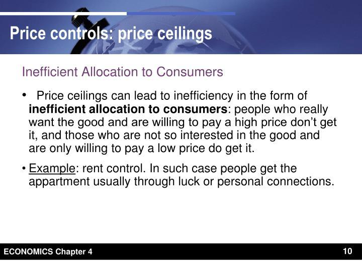 Inefficient Allocation to Consumers