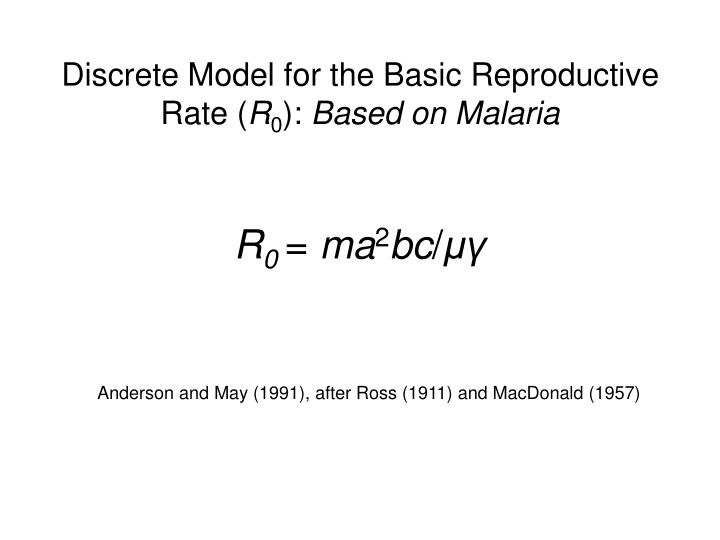 Discrete Model for the Basic Reproductive Rate (