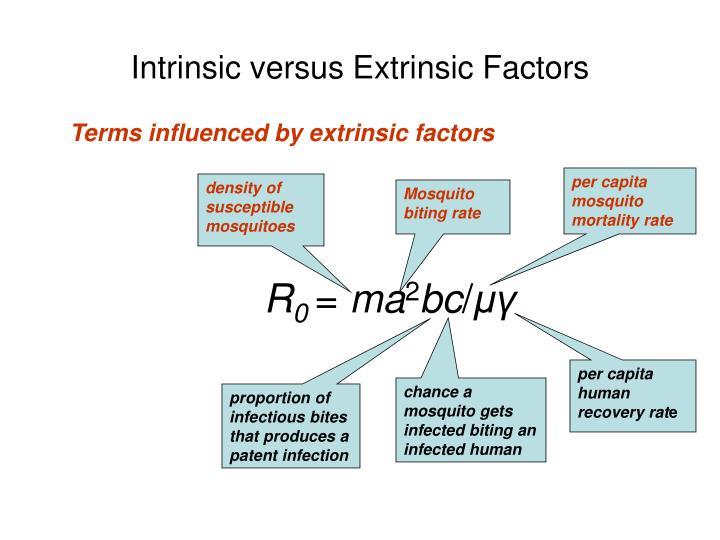 Intrinsic versus Extrinsic Factors
