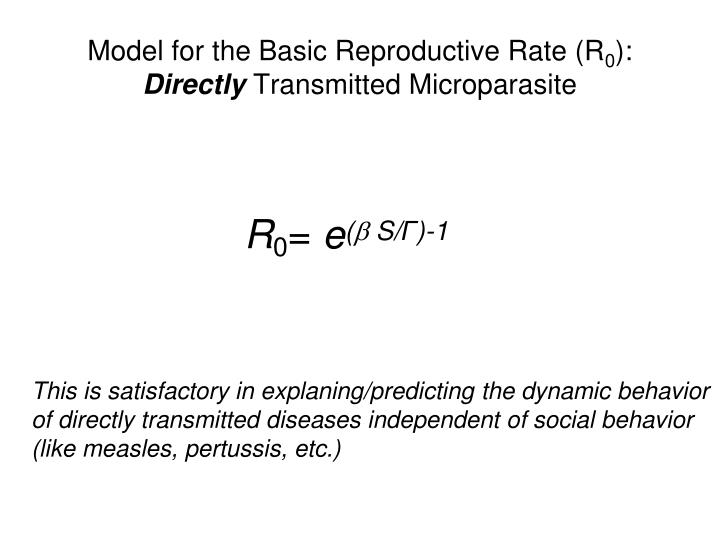 Model for the Basic Reproductive Rate (R